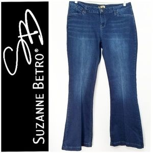 NWT Suzanne Betro Flare Leg Jeans